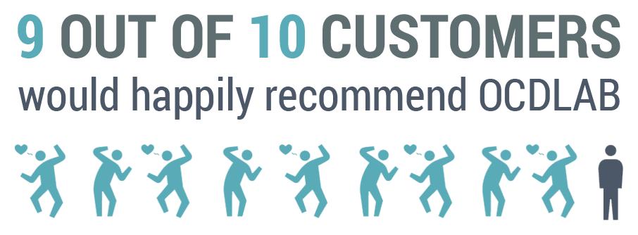 9 out of 10 customers image
