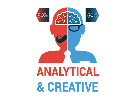 Analytical and creative image