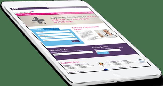 Responsive Web design for HealthTimes