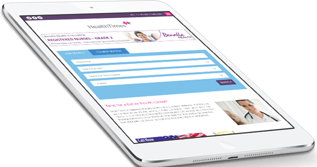 Responsive Web design for HealthTimes